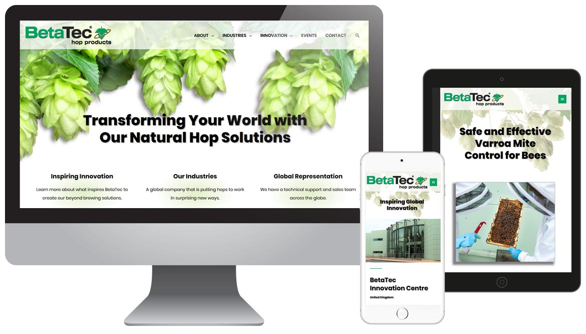 BetaTec Hop Innovation, Ethanol Website Design