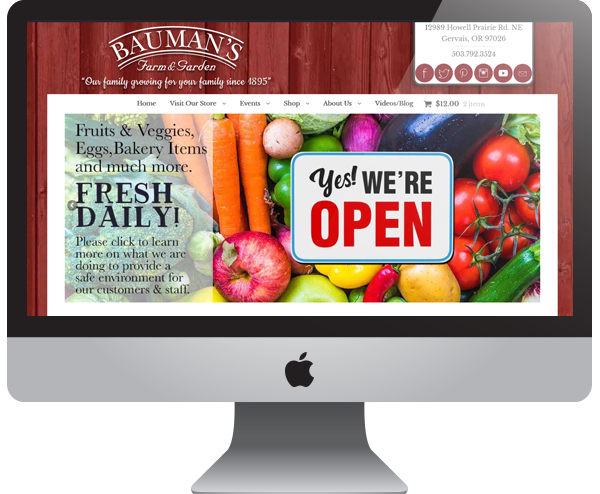 Farm & Garden Website Design Wordpress