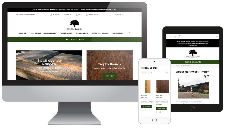 Northwest Timber Lumber - Oregon Website Magento Design
