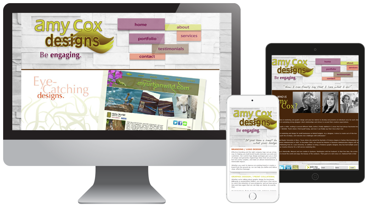 Portfolio - Amy Cox Designs - Graphic Designer Website