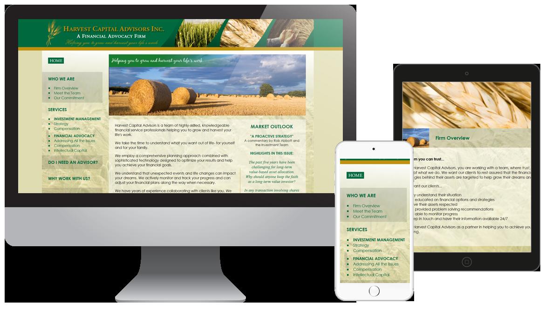 Portfolio - Harvest Capital Advisors - Financial Website