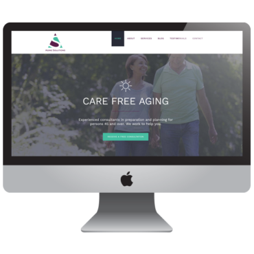 Aging Health Financial Consultant Website