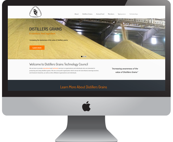 Distillers Grains Nonprofit Educational Website Design