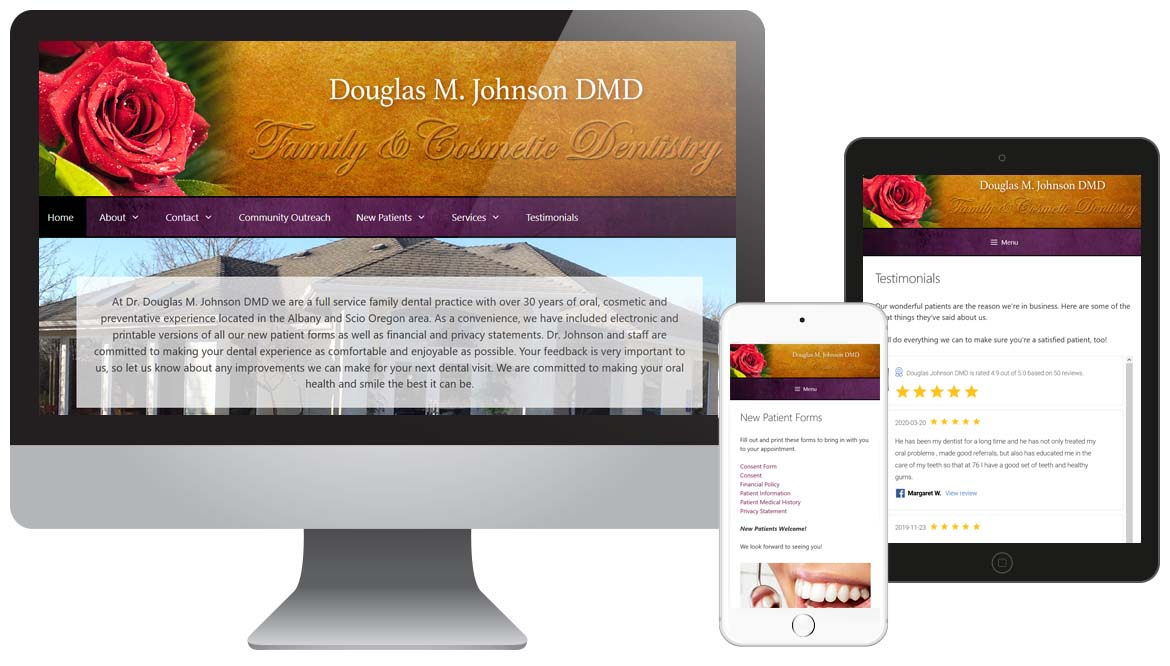 Family Dentist Clinic Website Design