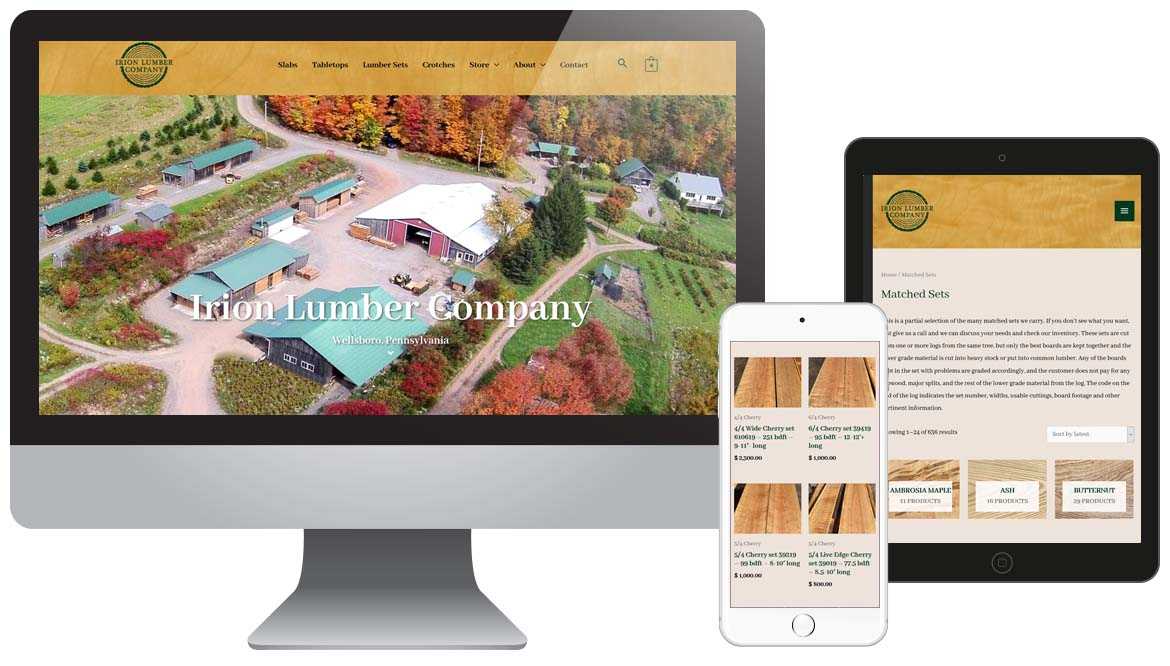Irion Lumber Company Web Design & Ecommerce WordPress