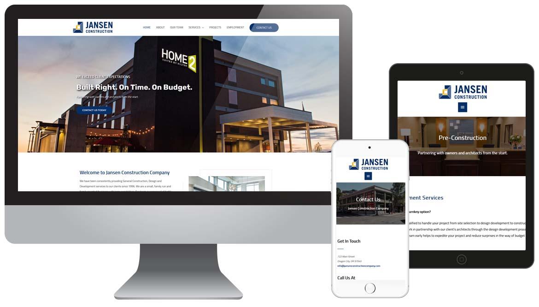 Jansen Construction Company Website - WordPress