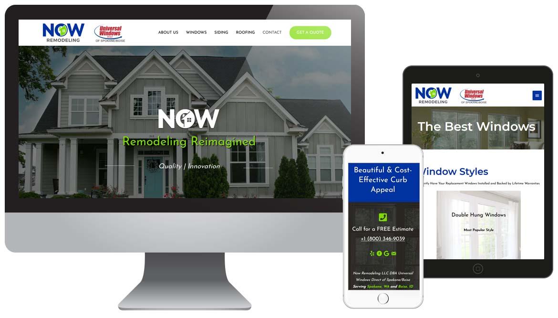 NOW Remodeling Contractor Website Desgin