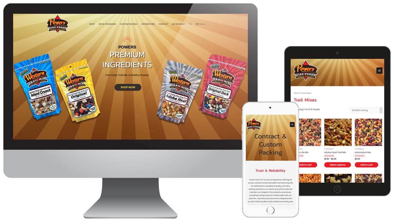 Powers Fine Foods Snacks Website - WordPress